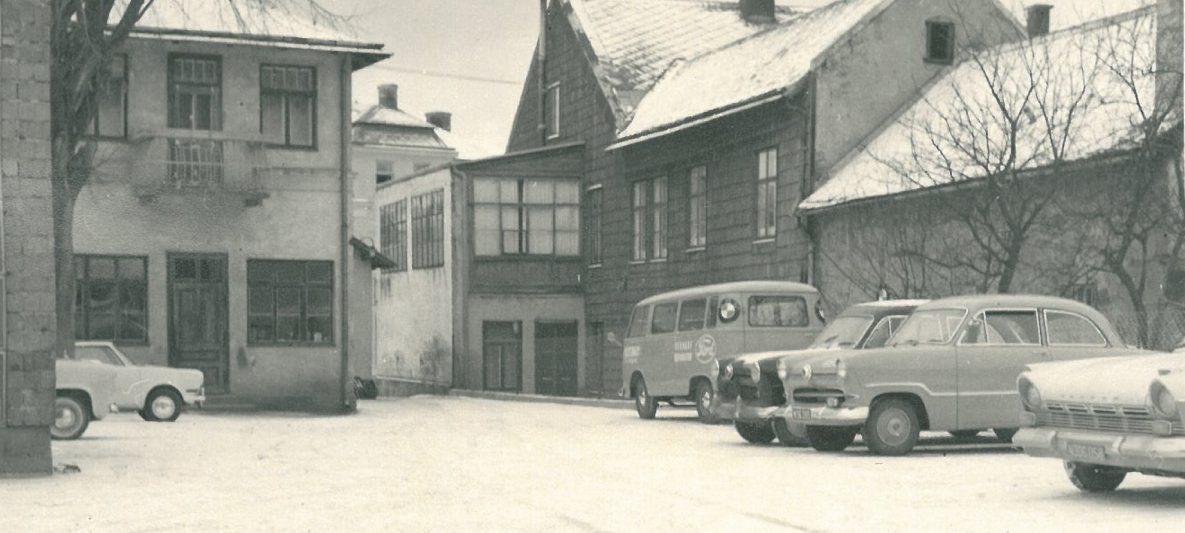 Alter Firmenhof an der Adresse Haupstraße 29 im Jahr 1957