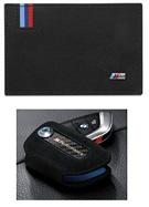 BMW M Visitkartenetui und Schlüsseletui aus Leder mit Carboneinsätzen