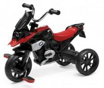BMW Tret Motorrad für Kinder in Schwarz-Rot