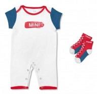 MINI Baby Geschenkset bestehend aus Strampler und Socken in weiß, blau, rot