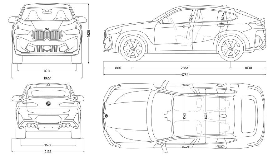 BMW X4 M Competition F98 LCI Facelift 2021 Seitenansicht stehend