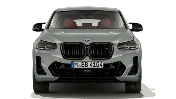 BMW X4 G02 Brooklyn Grau Nahaufnahme Frontdesign 2021