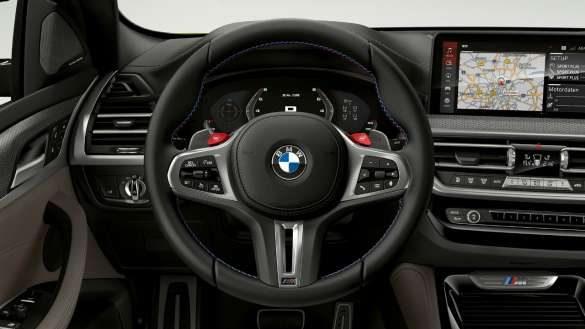 BMW X4 M F98 LCI Facelift 2021 M Lederlenkrad Cockpit
